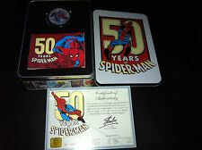 2013 $2 50 Years of Spider-Man 1oz Silver Proof Coin CERTIFICATE NUMBERED: 900