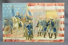Old Patriotic 4th of July Postcard-Tuck Washingtons Birthday Command & Farewell