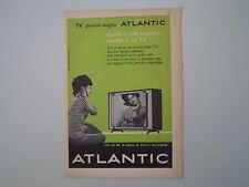 advertising Pubblicità 1961 TELEVISORE SPECCHIO MAGICO ATLANTIC