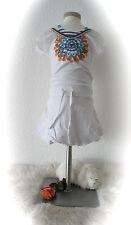 °MUY MALO° zuckersüßes Kleid Strandkleid Minikleid Ballonschnitt weiß 104 NEU