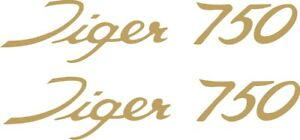 Triumph tiger 750 vinyl stickers