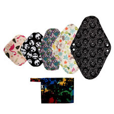 XS S M L XL paño menstrual Pad Mama Paño Sanitario carbón de bambú Bolsa reutilizable