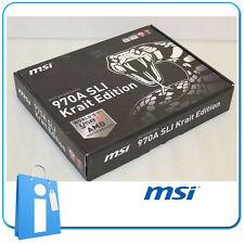 Placa base ATX 970 MSI 970A SLI Krait Edition USB 3.1 Socket AM3 con Accesorios
