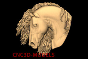 3D STL Model for CNC Carving Artcam Aspire Vcarve Horse Head animal panno PK116