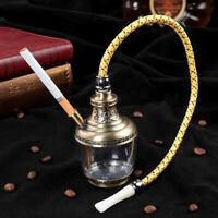 "6"" Collectible Tobacco Smoking Cigar Pipe Water Hookah Bong Set W/ Flexible Pipe"