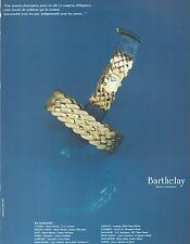 ▬► PUBLICITE ADVERTISING AD MONTRE WATCH BARTHELAY 1992