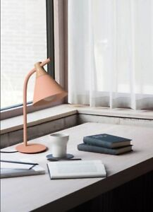 Nordic Metal Iron Wood Table Lamp Modern Desk Lamp Lights Lighting with 4 Colors