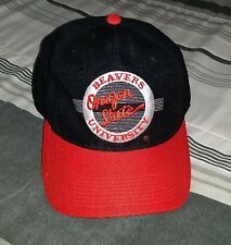Vintage 90's Oregon State Beavers College University Wool Fitted Hat -Size 7 1/2