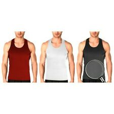 3-12 Pack Mens Activewear Cotton Ribbed Tank Top A-Shirt Wife Beater Undershirts