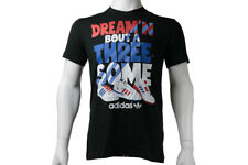 adidas Originals Trefoil Herren 3 Some Tee T-shirt Superstar Threesome schwarz s