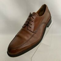 Johnston Murphy Oxfords Apron Toe Split Toe Brown Leather Lace Up Shoes Size 8M