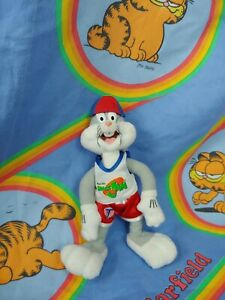 """Space Jam Plush Toy Bugs Bunny 1996 No Tag Missing Basketball 9"""""""