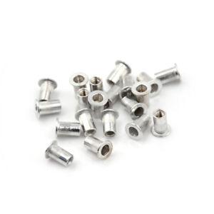 20Pcs Aluminum Alloy Flat Head Threaded Rivet Insert Nutsert Cap Rivet Nut A I-