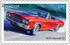 1970 Chevrolet Chevelle SS red vert 24X36 inch poster, sports car, muscle car