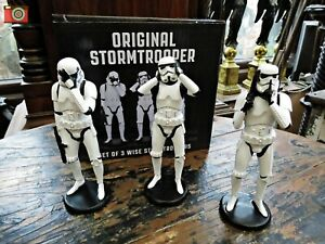 THREE WISE STORMTROOPERS. Official Star Wars Licenced Figures Statues. Nemesis