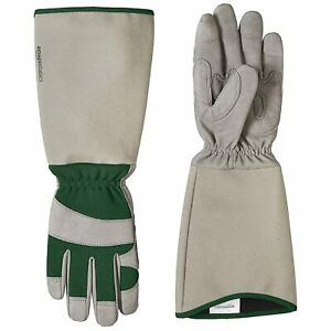 Rose Pruning Thorn proof gardening gloves Forearm Protection (M) Green