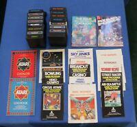Atari 2600 Lot of 16 Games, Booklets & Atari Game Catalogs Donkey Kong,Asteroids