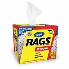 """(350 RAGS) SCOTT ALL-PURPOSE DISPOSABLE RAGS IN POP UP TOP BOX 11.5"""" x 9.5"""""""