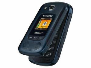 Samsung Convoy 4 Blue Rugged Flip Cellular Phone SM-B690V Verizon