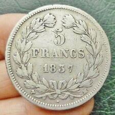 Louis Philippe Ier, Tête laurée - 5 Francs - 1837 MA  Marseille