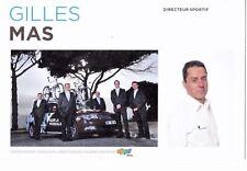 CYCLISME carte directeur sportif GILLES MAS équipe AG2R prévoyance 2011