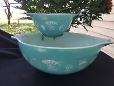 Vintage Pyrex Hot Air Balloon Bowl Chip And Dip Set With Bracket.