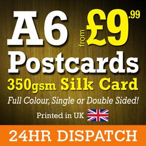 A6 Postcard Printing 350gsm Silk - High Quality A6 Postcards 24hr Dispatch