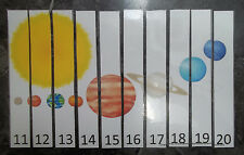 Solar System themed 11-20 Number Sequence Puzzle and Game Board.  Laminated game
