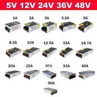 LED Driver Power Supply Adapter Strip Light AC 110-220V to DC 5V 12V 24V 36V 48V