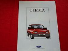 Ford fiesta fashion festival Ghia Super XR 2 folleto de 1988