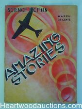 """Amazing Stories"" March 1933 John W. Campbell, Jr., Jack Williamson, Art deco co"