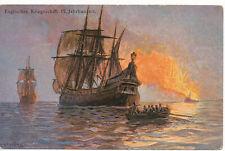 PC12130 Englisches Kriegsschiff 17. Jahrhundert. K. and B. Serie 1484