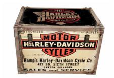 1 Harley Davidson Cycles Metal Storage Chest Trunk Retro Vintage Large Tool Box