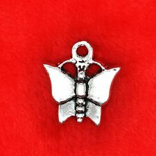 15 X Mariposa De Plata Tibetana encanto colgante encontrar Molduras la fabricación de joyas