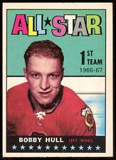 1967-68 TOPPS HOCKEY #124 BOBBY HULL EX-NM BLACK HAWKS ALL STAR Card