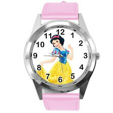 Princess Snow White Disney FILM MOVIE FAIRY TALE CD DVD TV PINK LEATHER WATCH