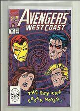 AVENGERS WEST COAST # 58  (1990), Marvel Comics.