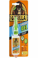 Gorilla Super Glue Gel Adhesive Bottle Extra Strong for Metal Wood Leather 15g