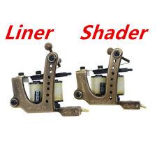 coil tattoo machine gun brass frame handmade set shader & liner(pack of 2)