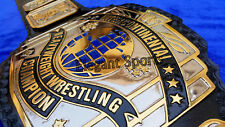 WWF 4mm DUAL PLATED Black Intercontinental Wresting Championship Replica Belt