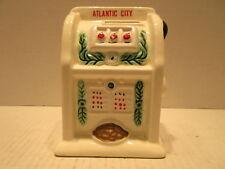 Atlantic City Slot Machine Cermaic Savings Bank By Nanco Made In Taiwan