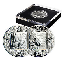 More details for filigree panda rare collectable limited edition 2oz silver coin
