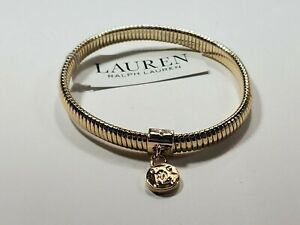 Ralph Lauren Stretch Bracelet $45 Gold Tone New Over Stock With Tags