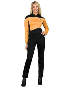 """Star Trek Gold Women Costume XS (USA 2-6),BUST 33-35"""" WAIST 25-26"""" LEG 29"""""""