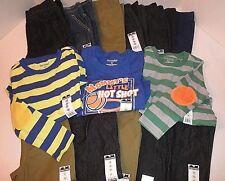 NWT $196 Wholesale Lot 14-pc Toddler Boys Clothes (11 pants 3 shirts). 3T 4T 5T