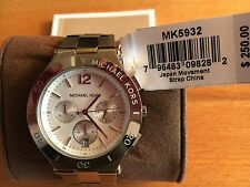 Michael Kors Wyatt Chronograph Silver Dial Stainless Steel Ladies Watch MK5932.