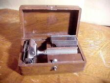 GEM Brooklyn NY Pat. 1912 SAFETY RAZOR in Original DOVETAILED WALNUT BOX