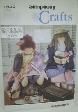 """Simplicity Craft Pattern 7958 20"""" Peddler & Quilter Doll 1992 by Ruth OOP Uncut"""