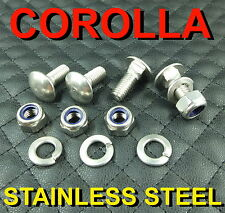 4STAINLESS STEEL BOLTS SCREWS CHROME BUMPER FITFOR COROLLA KE70 TE71 TE72