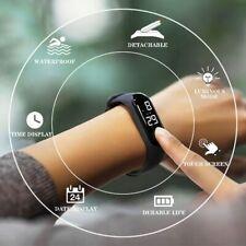Reloj Digital LED de 50 mresistente al agua para hombre y mujer, Reloj